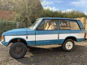 1971 suffix A Range Rover 2 door (genuine suffix A For Sale