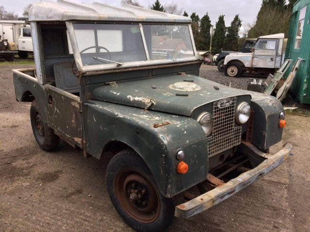 1954 Series 1 86 inch Truck Cab Land Rover for Restoration  For Sale (picture 2 of 6)