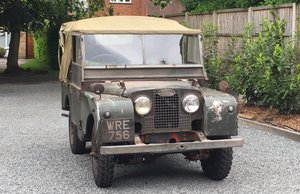 "1951 80"" Landrover Series 1 original patination For Sale"