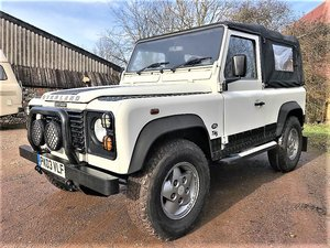 2003 Defender 90 TD5 soft top 6 seater+high spec+long MOT For Sale