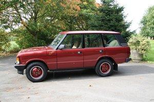 """1990 Range Rover """"Dakar"""" 4 door Manual. For Sale"""