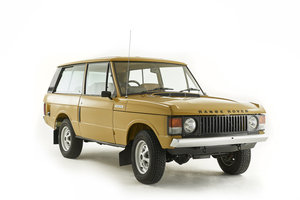 Kingsley Restored 1977 Range Rover 2 Door in Bahama Gold For Sale