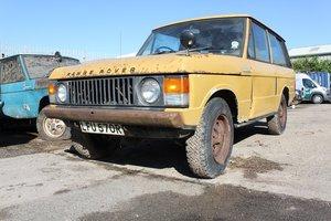1976 Range Rover Classic V8 Petrol UK RHD For Restoration SOLD