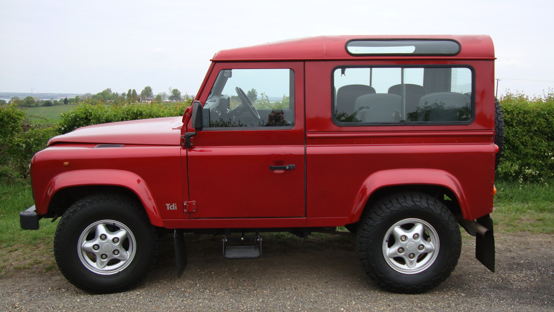 1998 Landrover Defender 300TDI  SWB Red For Sale (picture 1 of 6)