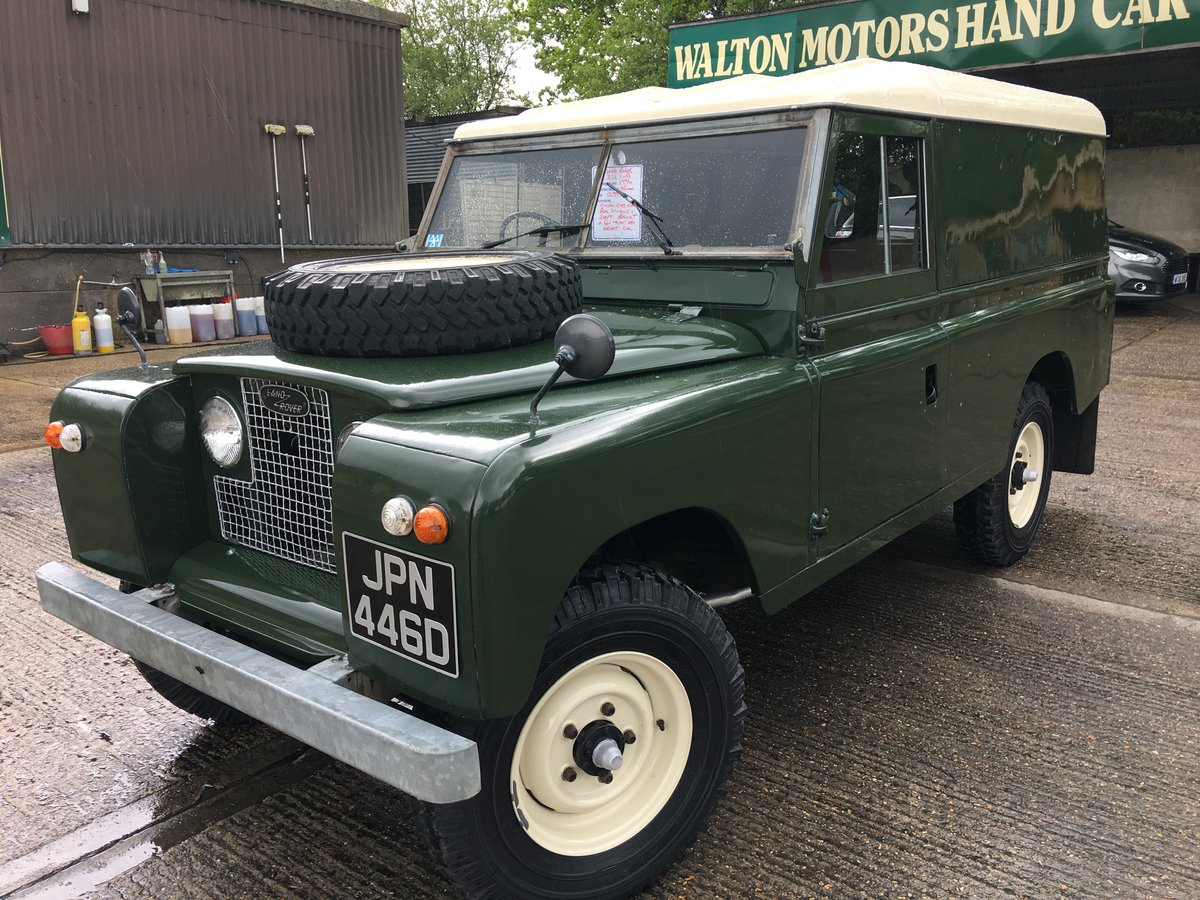 1966 land rover series 2 109 on galvanised chassis only 45000 mls For Sale (picture 2 of 6)