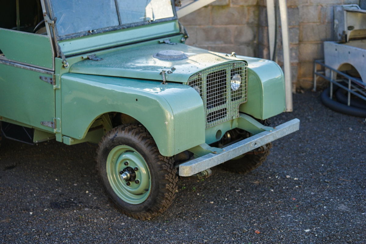 1949 Land Rover Series 1 80 Lights Behind Grille Project JWR 918 For Sale (picture 3 of 6)