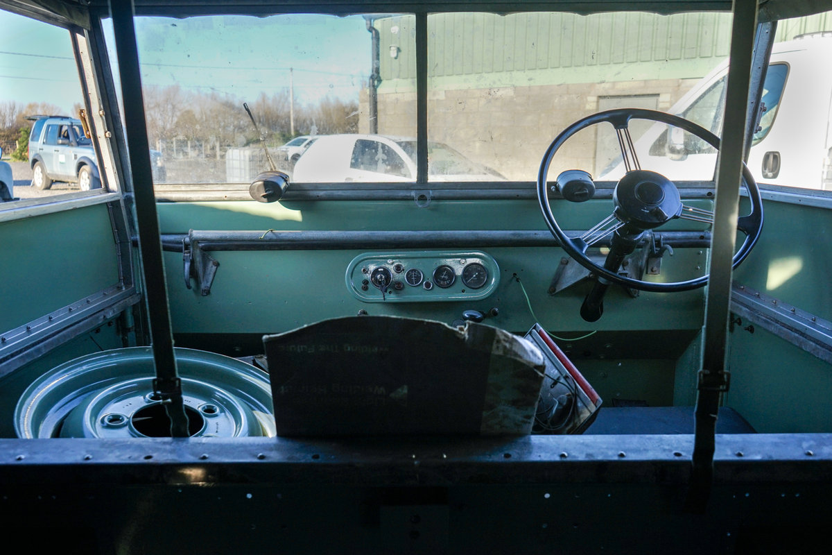 1949 Land Rover Series 1 80 Lights Behind Grille Project JWR 918 For Sale (picture 6 of 6)