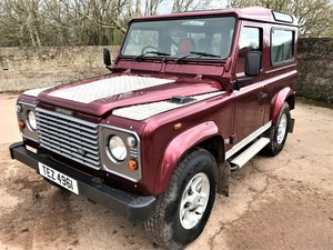 2002 02/02 Defender 90 TD5 county station wagon 6 seat For Sale