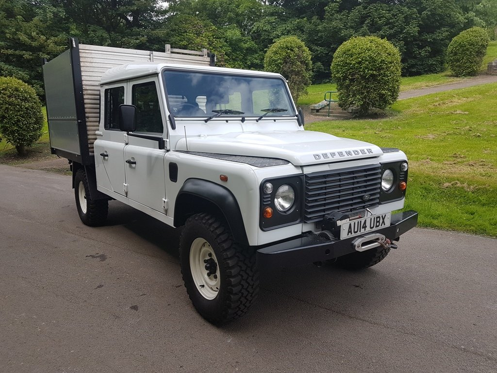 2014 LAND ROVER DEFENDER 130 DOUBLE CAB TIPPER For Sale (picture 1 of 6)