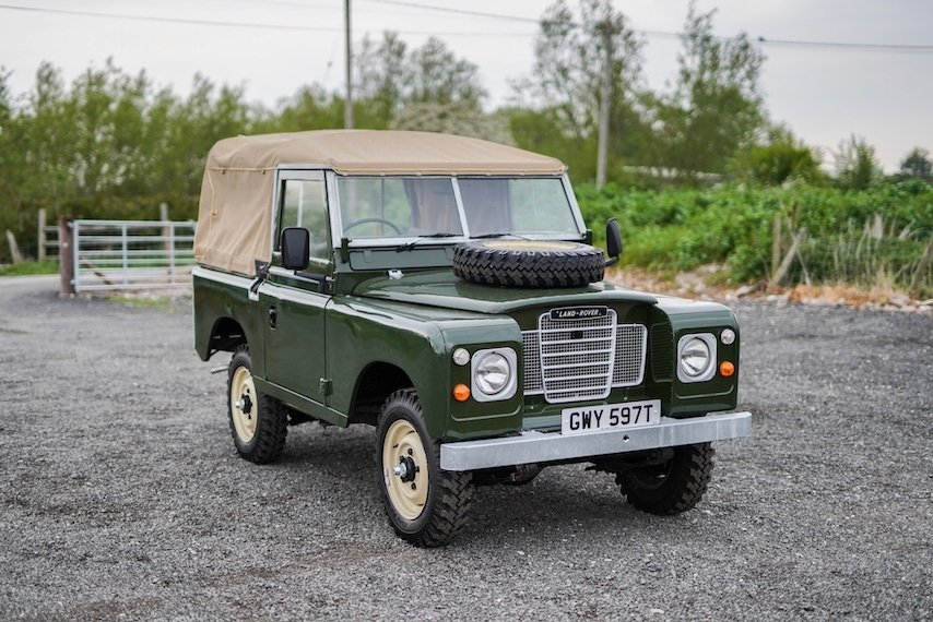 Land Rover Series 3 88 Bronze Green 1979 Soft Top   GWY 597T For Sale (picture 1 of 6)