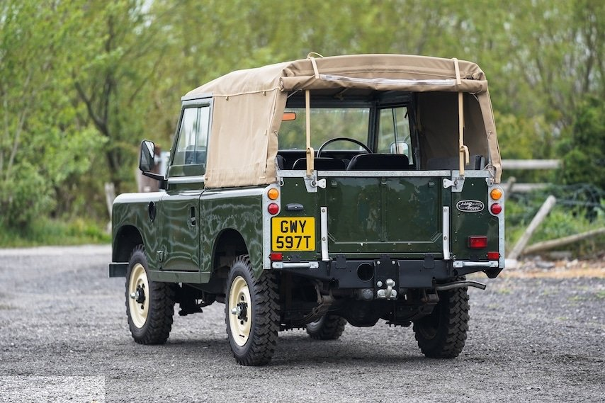 Land Rover Series 3 88 Bronze Green 1979 Soft Top   GWY 597T For Sale (picture 6 of 6)