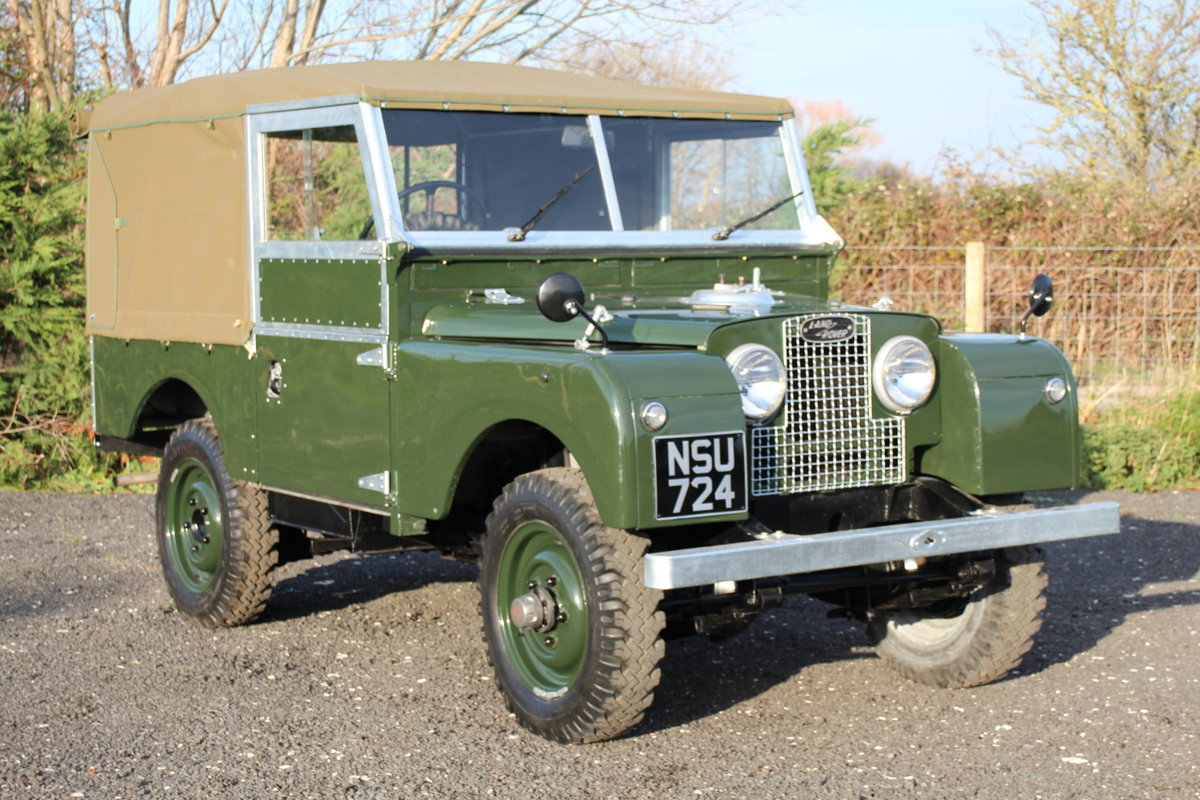 Land Rover Series 1 86 Soft Top 1954 Model Year (NSU 724) SOLD (picture 1 of 6)