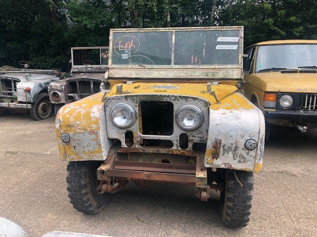 """1950 Land Rover Series One 80"""" Lights Behind The Grille SOLD (picture 2 of 6)"""