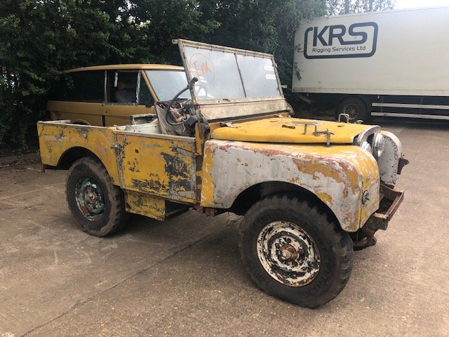 """1950 Land Rover Series One 80"""" Lights Behind The Grille SOLD (picture 3 of 6)"""