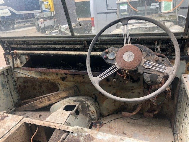 """1950 Land Rover Series One 80"""" Lights Behind The Grille SOLD (picture 6 of 6)"""