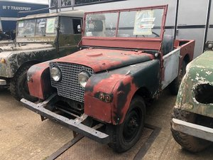 "1951 Land Rover Series One 80"" Lights Through The Grille"
