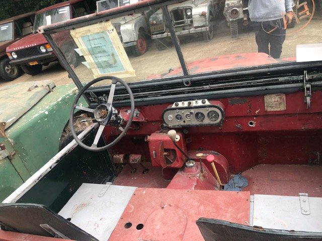 "1951 Land Rover Series One 80"" Lights Through The Grille SOLD (picture 6 of 6)"