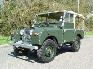 "1952 Land Rover Series 1 80"" tilt - low mileage For Sale"