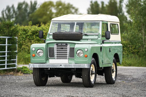 1983 Land Rover Series 3 88 Hardtop Pastel Green Galvanised Chass For Sale