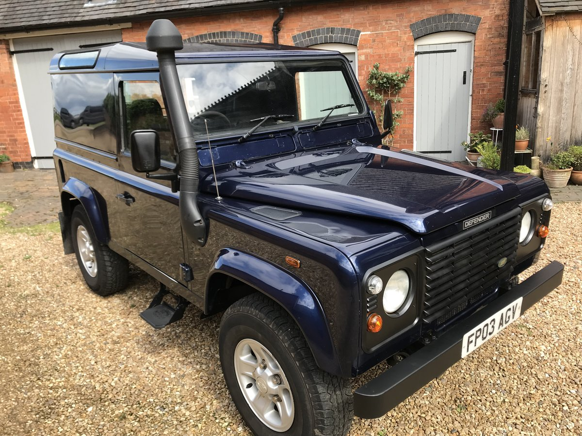 2003 Land Rover Defender 90 Td5 County Pack Hard Top For Sale (picture 1 of 6)