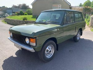 1972 Classic Range Rover Suffix A SOLD