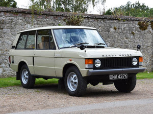 1972 RANGE ROVER 4X4 ESTATE For Sale by Auction