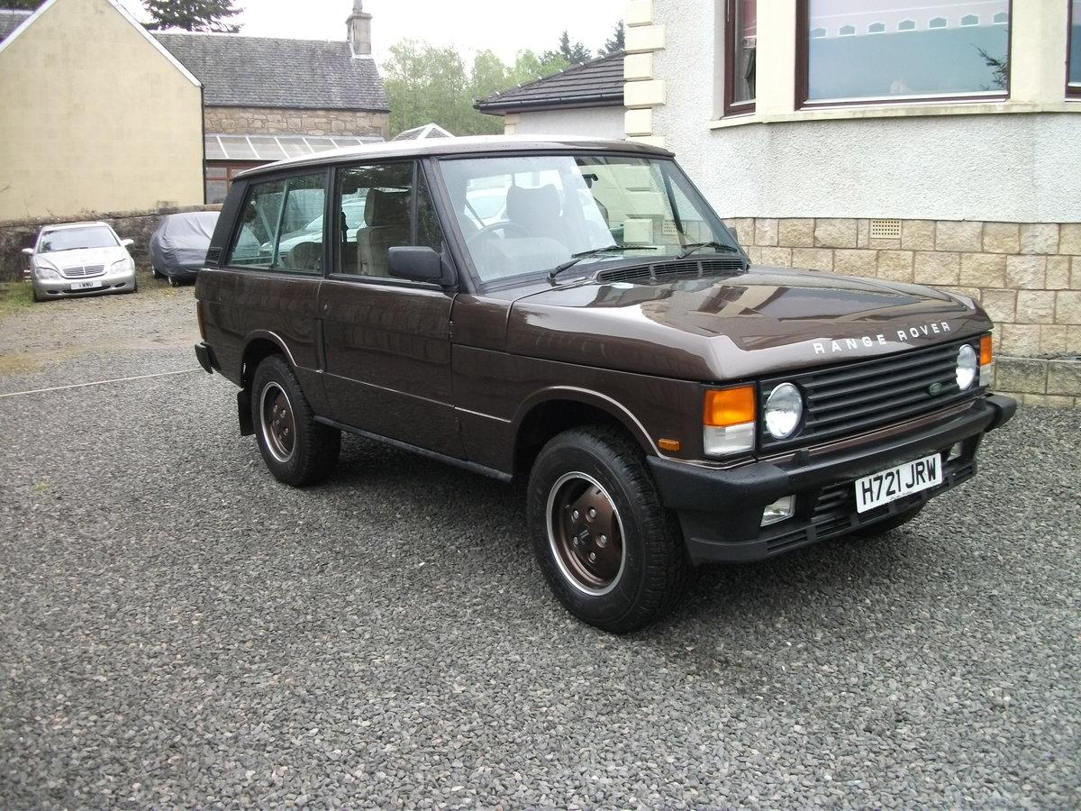 1990 Range Rover 2 door classic RHD For Sale (picture 1 of 6)
