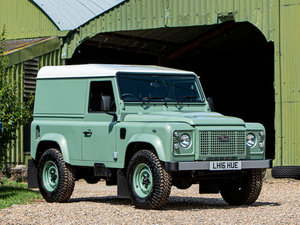 2016 LAND ROVER DEFENDER 90 HERITAGE HARDTOP 4X4 UTILITY For Sale by Auction