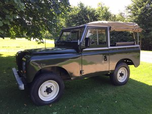 1979 Land Rover Series 3, White wheels, Canvas Roof