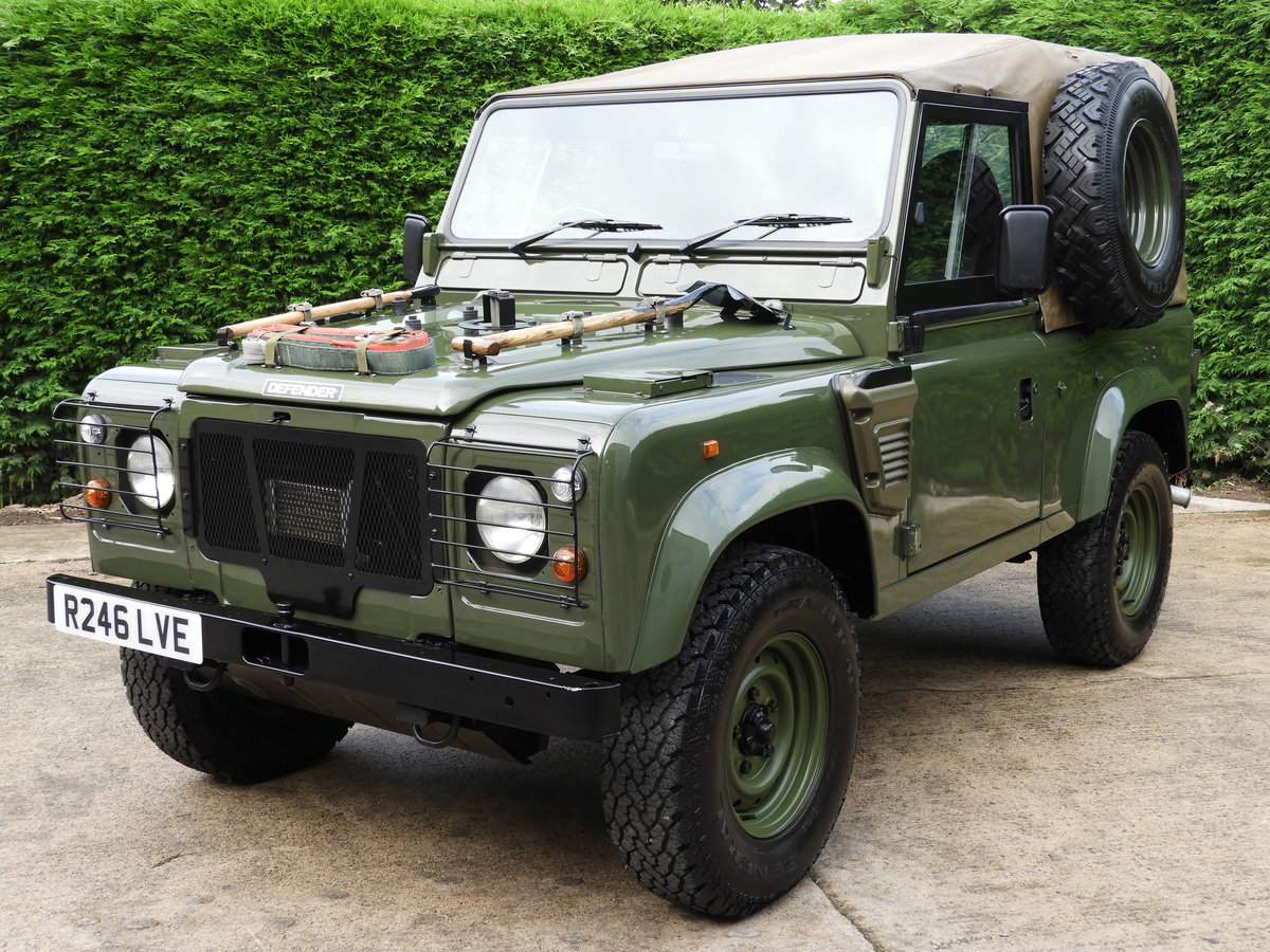 1998 LAND ROVER DEFENDER 90 300TDI EX MOD RARE XD-WOLF!! For Sale (picture 1 of 6)