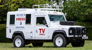 ex-SAS British Army, 1990 LAND ROVER DEFENDER 110 V8 MEDIA  For Sale by Auction