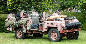 ex-SAS British Army, 1968 LAND ROVER S2A 109 PINK PANTHER