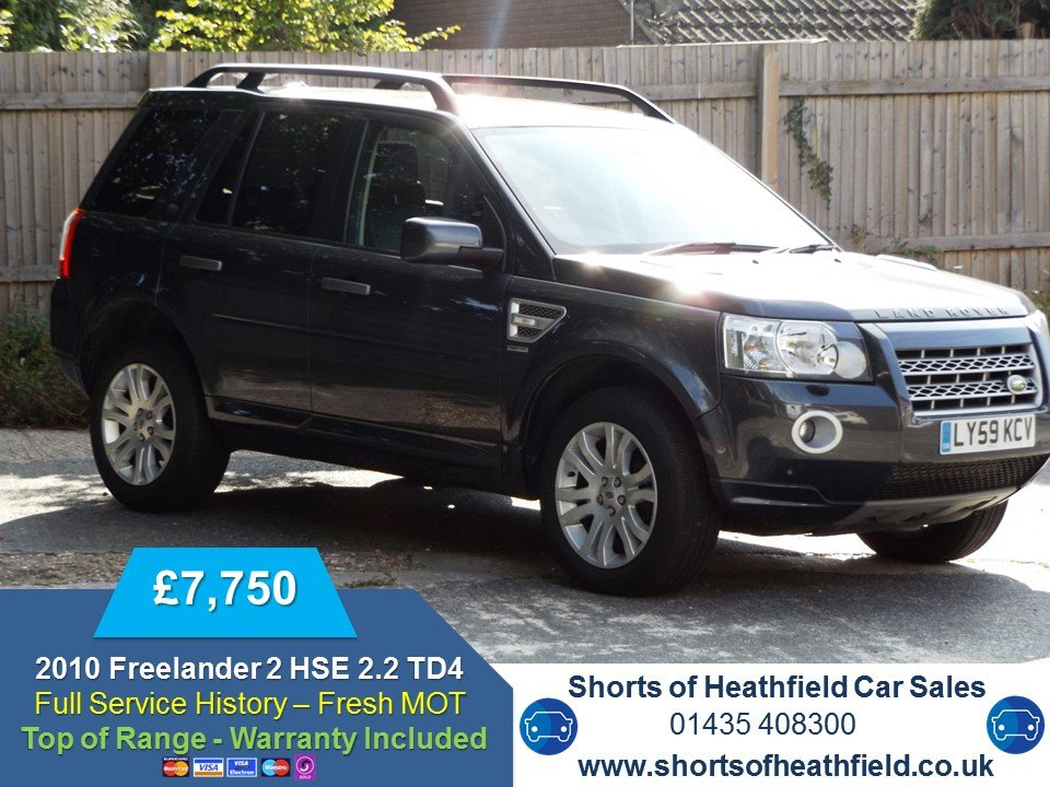 2010 Land Rover Freelander 2 2.2Td4 (158bhp) 5 Dr 4X4 Auto For Sale (picture 1 of 1)