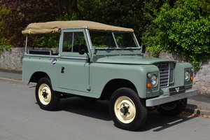 "1980 Land Rover Series 3 88"" Pastel Green Softop Fully Refurbishe SOLD"