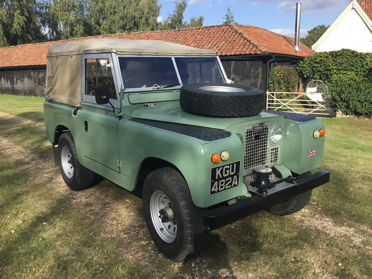1963 Land Rover Series 2A Soft top Petrol. For Sale (picture 1 of 6)