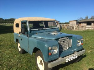 1975 Land Rover SIII with 200tdi engine and soft top