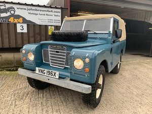 1981 Land Rover® Series 3 *Galvanised Chassis Ragtop* (VNG) SOLD