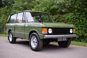 1972  RHD RANGE ROVER CLASSIC 2 DOOR SUFFIX A RESTORED TO R