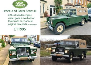 1979 Land Rover Series 3 109 2.6L ,straight 6 :6 Cyl For Sale