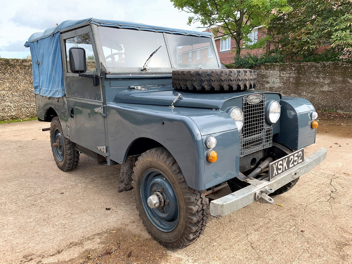 1954 land rover series one 86in softtop 2.25 petrol 7 seater For Sale (picture 1 of 6)
