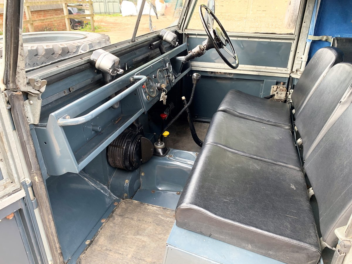 1954 land rover series one 86in softtop 2.25 petrol 7 seater For Sale (picture 3 of 6)