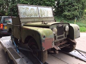 1952 Land Rover 80 inch for Restoration - Alloy Bulkhead