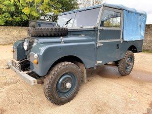 1954 land rover series one 86in softtop 2.25 petrol 7 seater For Sale