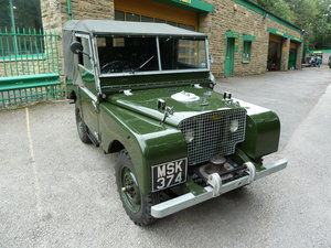 Picture of 1949 LAND ROVER SERIES 1 – 80 – LIGHTS BEHIND GRILL – RING PULL