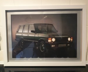 1988 Range Rover Framed Advert Original