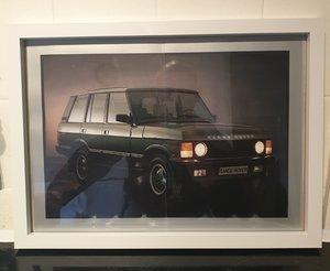 1988 Range Rover Framed Advert Original  For Sale
