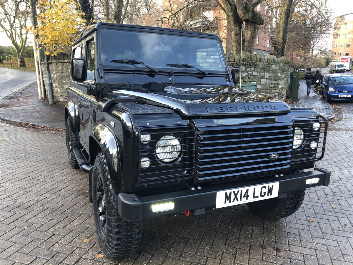 2014 Defender 90 XS Factory Left Hand Drive Black Pack ONE OWNER For Sale (picture 1 of 6)