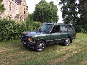 Lot 10 - A 1993 Range Rover Vogue SE four door classic For Sale by Auction