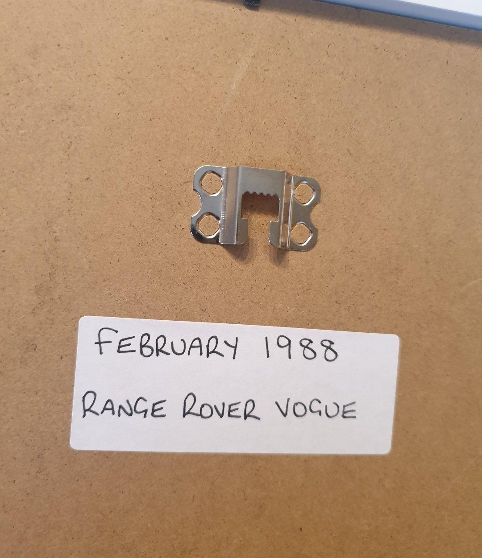 1988 Original Range Rover Framed Advert For Sale (picture 2 of 2)