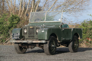"1949 Land Rover Series 1 80"" Lights Behind the Grille For Sale"